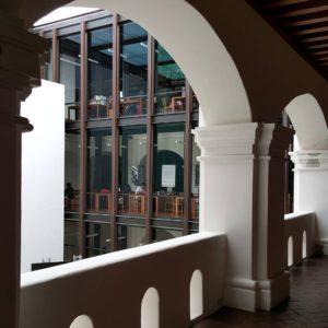 Vista de la BIJC desde el Centro Cultural San Pablo