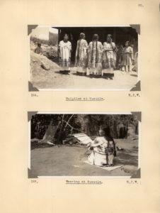 Notas de campo de Irmgard Weitlaner Johnson sobre los huipiles de Huautla de Jiménez, Oaxaca