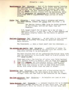 Notas de campo de Irmgard Weitlaner Johnson sobre la Chinantla