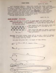 Notas de campo de Irmgard Weitlaner Johnson del año 1952