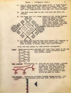 Notas de campo de Irmgard Weitlaner Johnson sobre el huipil de Tlatepusco